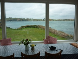View from the open plan living area towards Sherkin Island